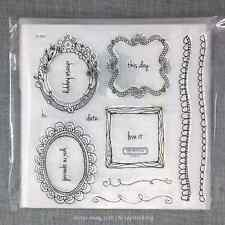 Close to my Heart S1503 Choose Happy CTMH Acrylic Stamps Set NEW Frames, Borders