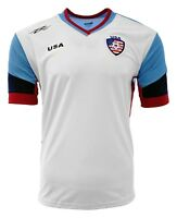 USA  New  Jersey white/Blue 100% Polyester Design By Arza Soccer
