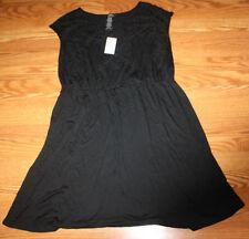NWT Womens SPENSE Black Stretch Swim Cover Sun Dress Size S Small