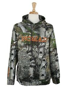 Nomad Men's Camo Hoodie Hunting Fleece Lined Camouflage Pullover Kangaroo Pocket