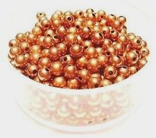 3 mm Solid Copper Round Hollow Beads Pkg. Of 100 /Made in USA #CPB3R