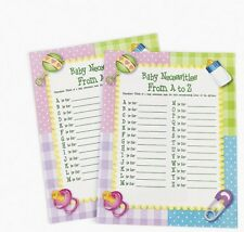 24 Baby Necessities Shower A To Z Game