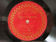 78rpm rare MARSH AUTOGRAPH RECORD: MELVIN MARTINSON (Violin) plays CRADLE SONG