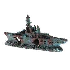Aquarium Navire de guerre Bateau Épave de bateau Ornement Réservoir