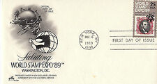 WORLD STAMP EXPO - 2410 U/A FDC - ARTCRAFT CACHET - 1989 - 6
