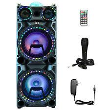 YLT Dual 10 Inch Karaoke Rechargeable Speaker Mic, Bluetooth DJ Projection Dome