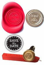Wax Stamp, SAVE THE DATE Invitation and Red Wax Stick XWSC203-KIT