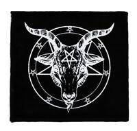 BAPHOMET BLACK COTTON SEW-ON PATCH PENTAGRAM SATANTIC OCCULT CHURCH OF SATAN