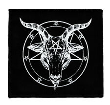 BAPHOMET BLACK COTTON SEW-ON PATCH PENTAGRAM SATANTIC OCCULT CHURCH OF SATAN