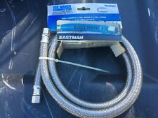 New Eastman Ice Maker Connector 60 Inch 5 Ft 1/4 X 1/4 # 0247027 Steel Flex Hose