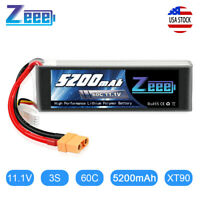 5200mAh 60C 11.1V 3S XT90 Plug LiPo Battery for RC Airplane Helicopter Car Drone
