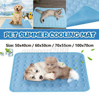 Pet Dog Cat Cooling Mat Summer Heat Relief Cool Pad Dog Cat Bed Cushion Pads