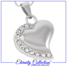 NEW!ECN16 Eternity Collection Cremation Jewellery - 'Hearts by my Side' Necklace