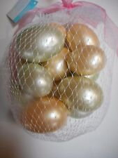 "Bag Of 14 Pastel Pearl Finish Polystyrene Foam Easter Eggs Ornaments 2""-2.5"" New"