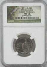 2014-S NGC MS67 25C Everglades - America the Beautiful Quarter - Early Releases