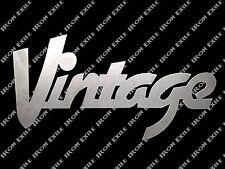 Vintage Metal Word Script Garage Man Cave Hot Rod Shop Rat Bobber Cafe Racer