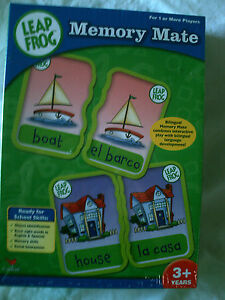 Educational  Leap Frog  Memory Mate Game English and Spanish