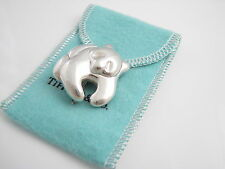 Tiffany & Co RARE Silver Super Adorable Panda Bear Brooch Pin!