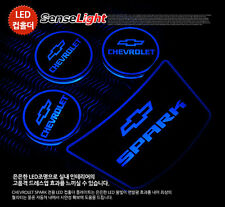 [Kspeed ] (Fits: Chevy 2013 Spark) LED cup holder console plates 4PCS