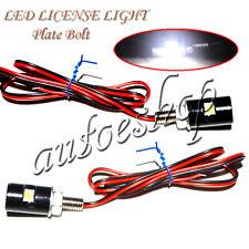White LED SMD Motorcycle&Car License Plate Light Screw Bolt lamp bulbs US seller