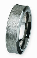 Ernstes Design Ring R248 Stainless Steel Polished 10mm Zirconia Black W56