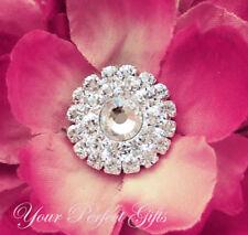 10 Round Circle Rhinestone Crystal Button Buckle Clip