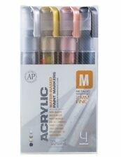 Montana CANS - 4 Marcador De Acrílico Pen Set - 2MM Marcadores Finos-Metálico Colores