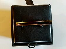 Pronto Uomo Silver and Black Tie Clip