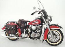 Harley-Davidson 1952 Fl Modèle 1:8 Noir Moto Moulage sous Pression Oeuvre
