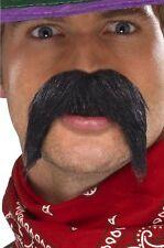 NOIR HOMMES GRINGO Moustache adhésif Comédie Faux Accessoire déguisement
