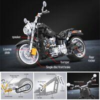 1:6 Creator Technic Harley Motorcycle Bike MOC Model Building Blocks Toys Kids