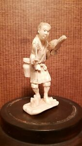 Japanese 19th century antique artistic carving bone material By Masakazu ??