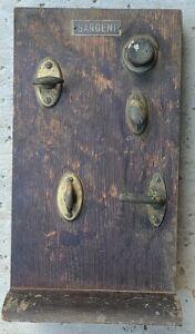 Antique Sargent Brass Door Lock Display / Salesman Sample Advertising