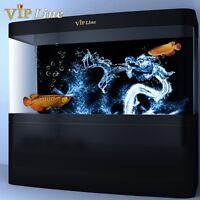Water Dragon PVC Aquarium Background Poster 3D Fish Tank Decorations Landscape