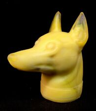 Boyd Art Glass Harvest Gold Satin DOBERMAN Dog Head