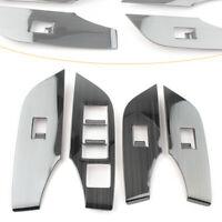 Interior Window Lift Panel Switch Cover Trim Fit Toyota RAV4 2019-2020 LHD 4PCS