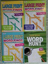 4 x Large Print Word Find Search Puzzle Book Bundle Easy-To-Read 364 puzzles P21