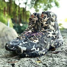 A Mens Camouflage Army Force Military Combat Lace Up Desert Boots Fashion Shoes