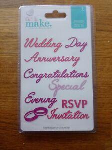 Avec - Cut & Make - Wedding - Sentiments Die Cutter Set