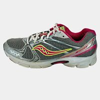 Saucony Womens Cohesion 6 15156-3 Gray Pink Silver Running Shoes Lace Up Size 10