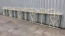 2.97 mtr VINTAGE RETRO MID CENTURY WROUGHT IRON METAL WALL GRILL TRELLIS PANEL