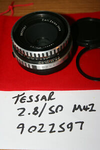 Carl Zeiss Jena Tessar Manual Focus 50mm F2.8 lens M42 Screw Mount - Works Well
