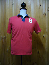 Abercrombie & Fitch Mens Red Polo Shirt Size Large L Number 6 - D12