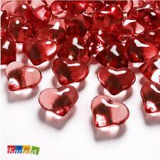 30 Cristalli CUORE Rossi Decorativi 21 mm Diamantini Centrotavola San Valentino