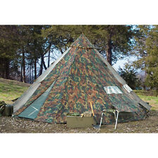 Camping Tent Teepee Tipi 6 Person Heavy Duty Waterproof Outdoor Hiking Camo