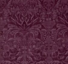 """ZOFFANY CURTAIN FABRIC DESIGN """"Ducato Velvet"""" 1M RUBIENT DAMASK COLLECTION"""