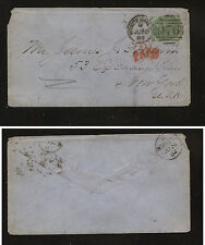 Great Britain 42 pl1 on cover to Us 1864 Ms0512