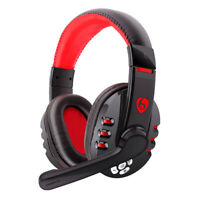 Wireless Gaming Headset Bluetooth Headphone w/ Mic for Smart Phones Tablet PC