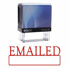 EMAILED Self Inking Rubber Red Ink Office Stamp Custom Colop Stamper|COLP-11A