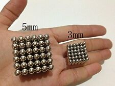 216 Pcs 3mm Silver Beads Magic Iron Puzzle cube Balls Spheres DIY Neodymium uk